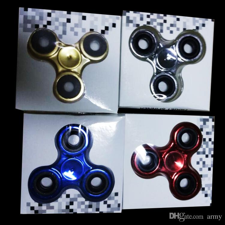 2017 Hand Spinners Metallic Electroplate Color Hand Spinners Fidget Spinner Top