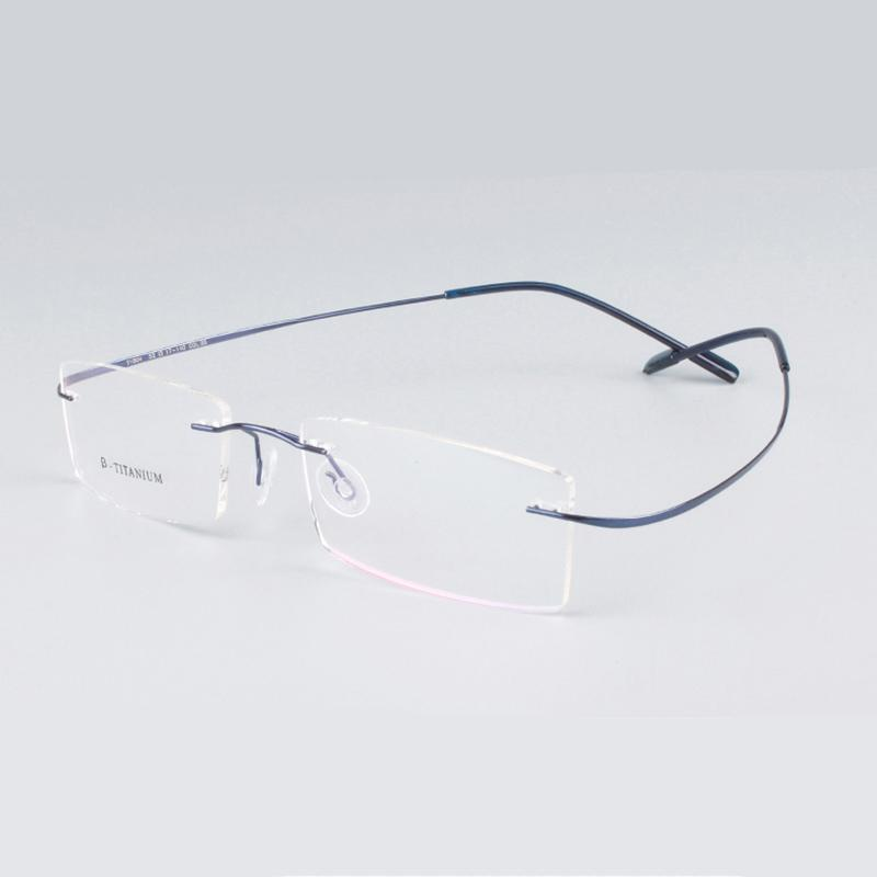 rimless titanium glasses frame men women fashion brand designer eyeglasses prescription glasses online clear lenses light