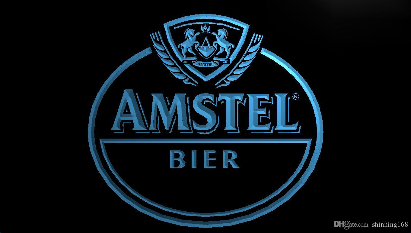 LS359-b Amstel BIER Logo Décor de boissons LED Neon Light Sign.jpg
