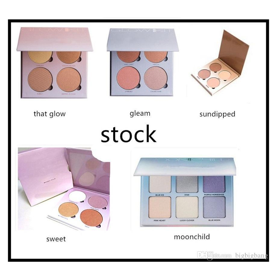 Wholesale-9 Colors Shimmer Eyeshadow Eye Shadow Palette & Makeup Cosmetic Brush Set Party Cocktail Wedding Long Lasting 8TT8