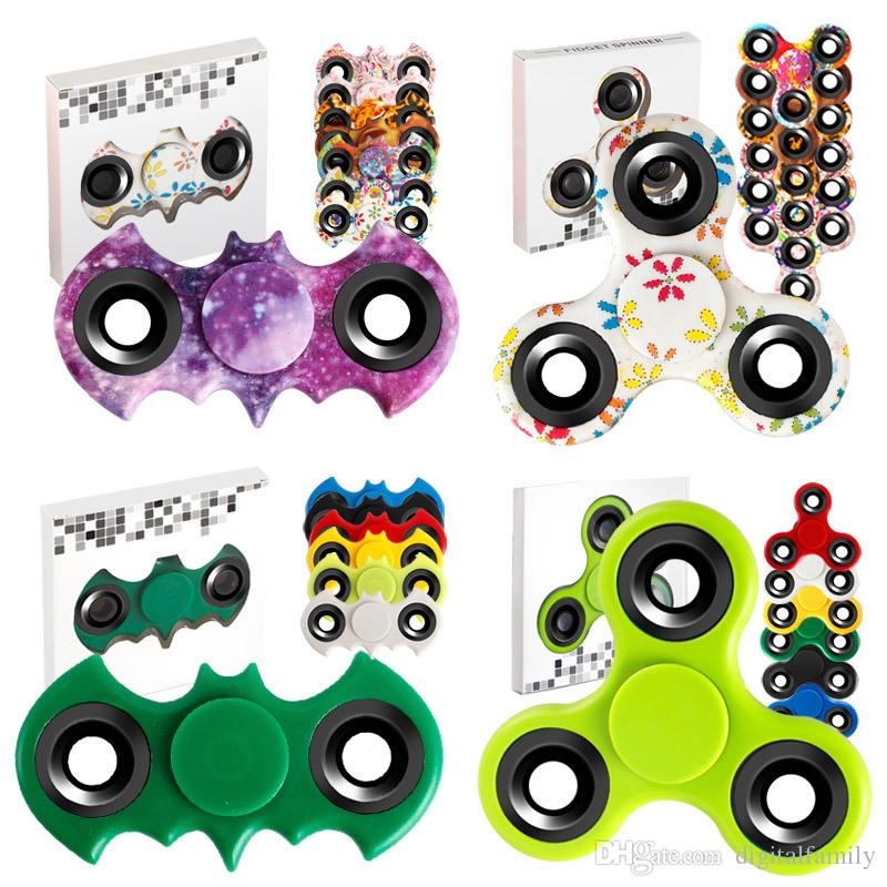 Avengers Camouflage Leopard Bat Style Spinner à main Anti-stress EDC Toy Bearing