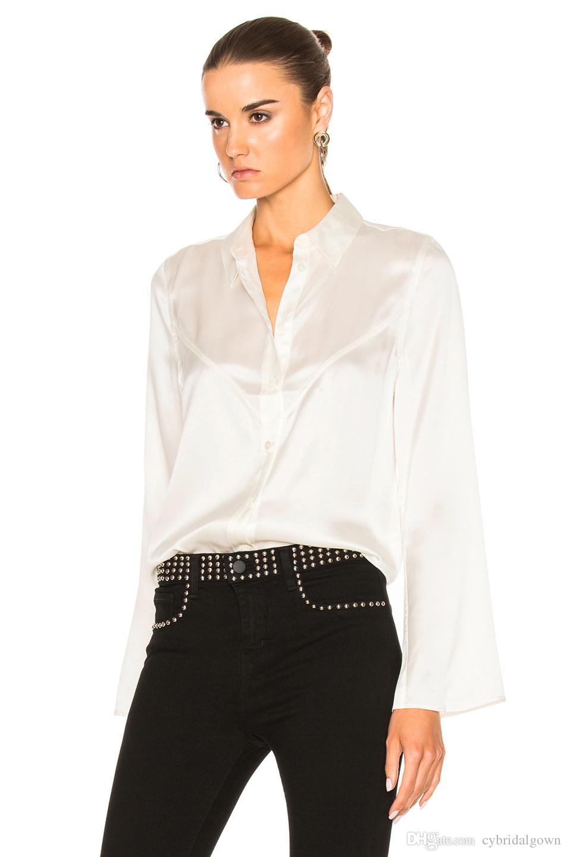 EQ 100% Silk Kate Moss Ladies Long Sleeve Blouses Selah Silk Shirt ...