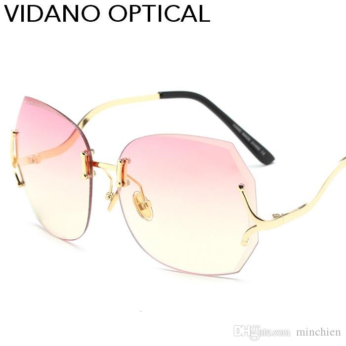 Nouvelle ouverture Vidano Optical Haute qualité Elegent Luxury Diamond Shape Lun