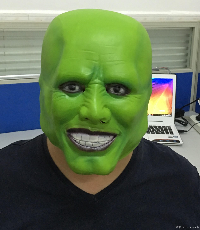 2017 Jim Carrey Latex Mask Green Masquerade Green Fancy Dress ...