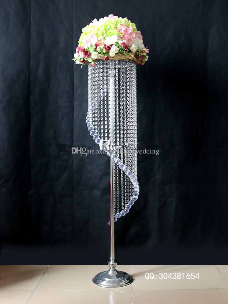 Newest gold wedding centerpiece vases metal tall table