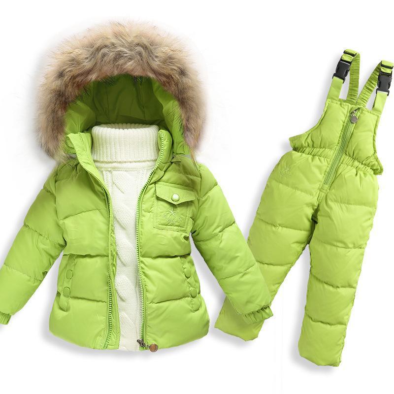 Girls Ski Suit Camouflage Winter Jacket For Boys Down Jacket ...