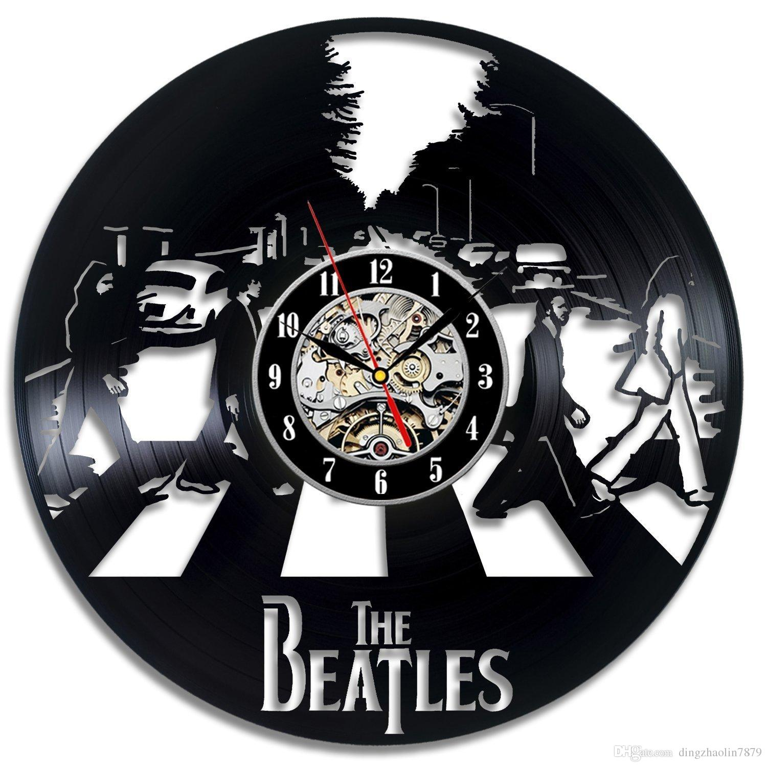 Vinyl Evolution The Beatles Art Vinyl Wall Clock Fan Gift ...