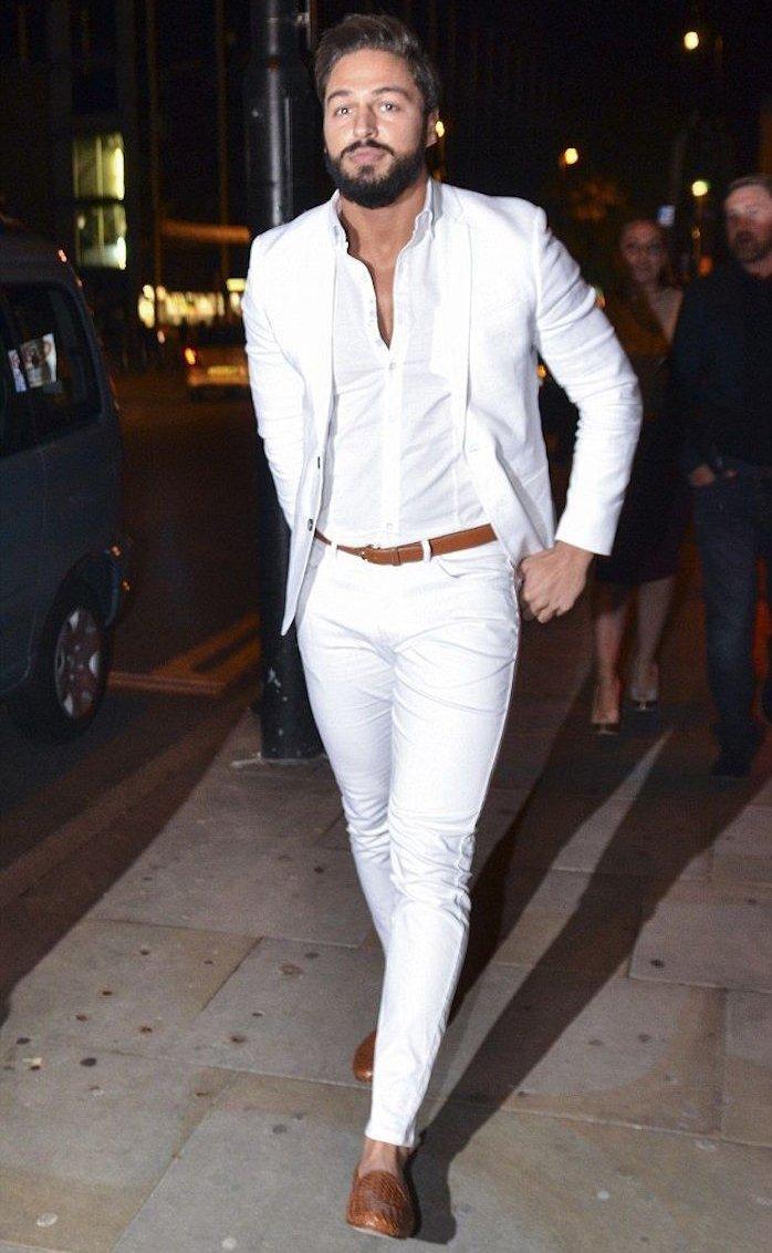 Wholesale- Latest Coat Pant Designs White Casual Custom Wedding ...