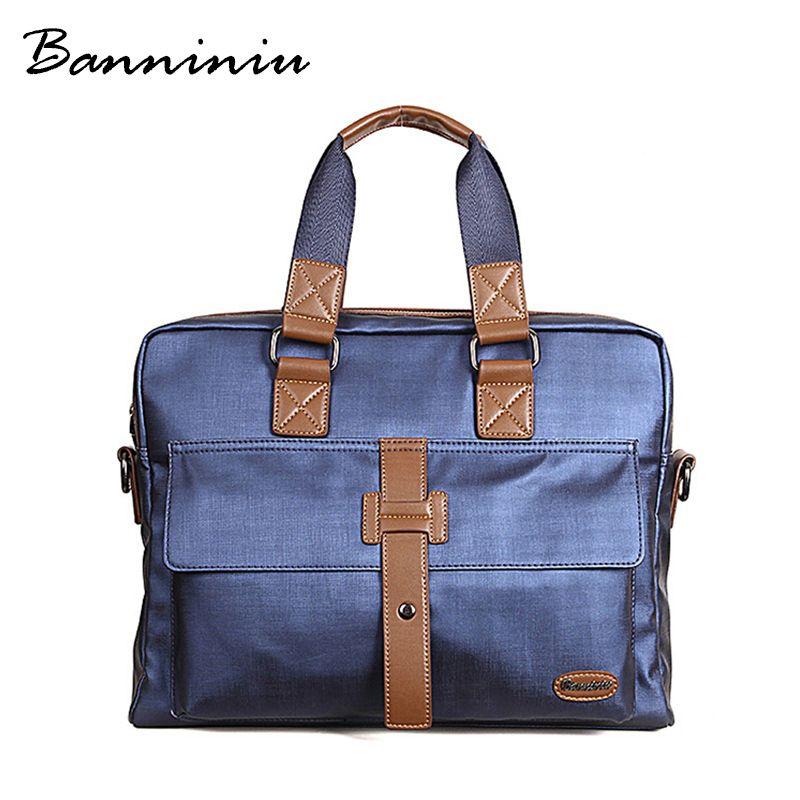 Wholesale Banniniu 2016 Men Casual Briefcase Business Shoulder ...