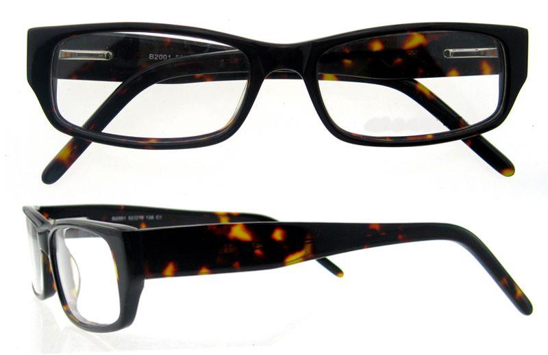 Eyeglass Frames Wide Temples : Vintage Rectangular Acetate Eyeglasses Women Tortoiseshell ...