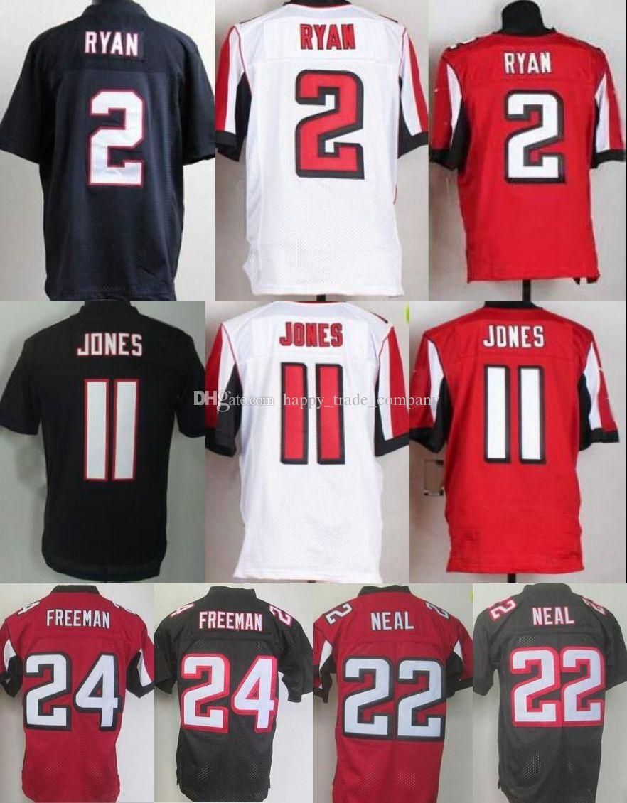 La meilleure qualité Hommes 2 Matt Ryan Football Jerseys 11 Julio Jones 22 Keanu