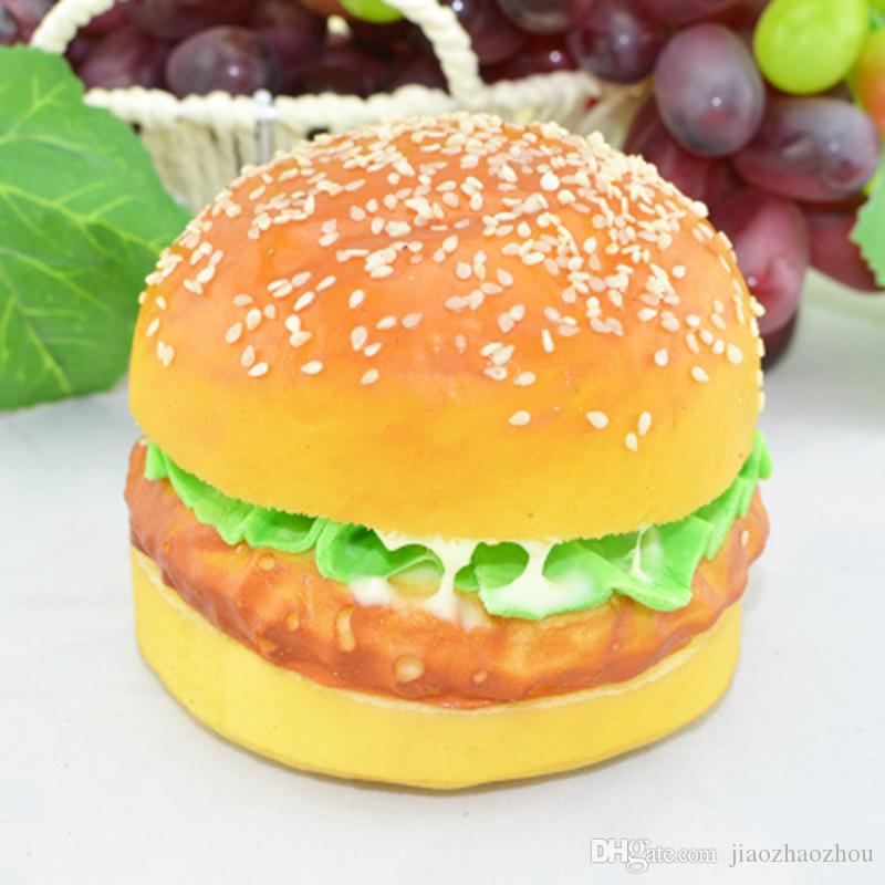Jumbo Burger Squishy : 2017 New 10cm Rare Squishy Jumbo Big Hamburger Squishy Bread Model Phone Strap Kid Toy Gift Soft ...