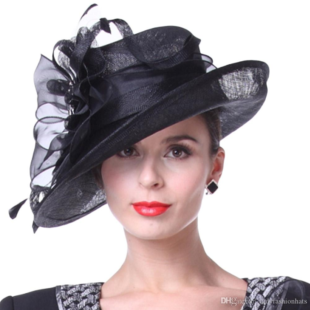 summer womens hat derby church party elegant fedora
