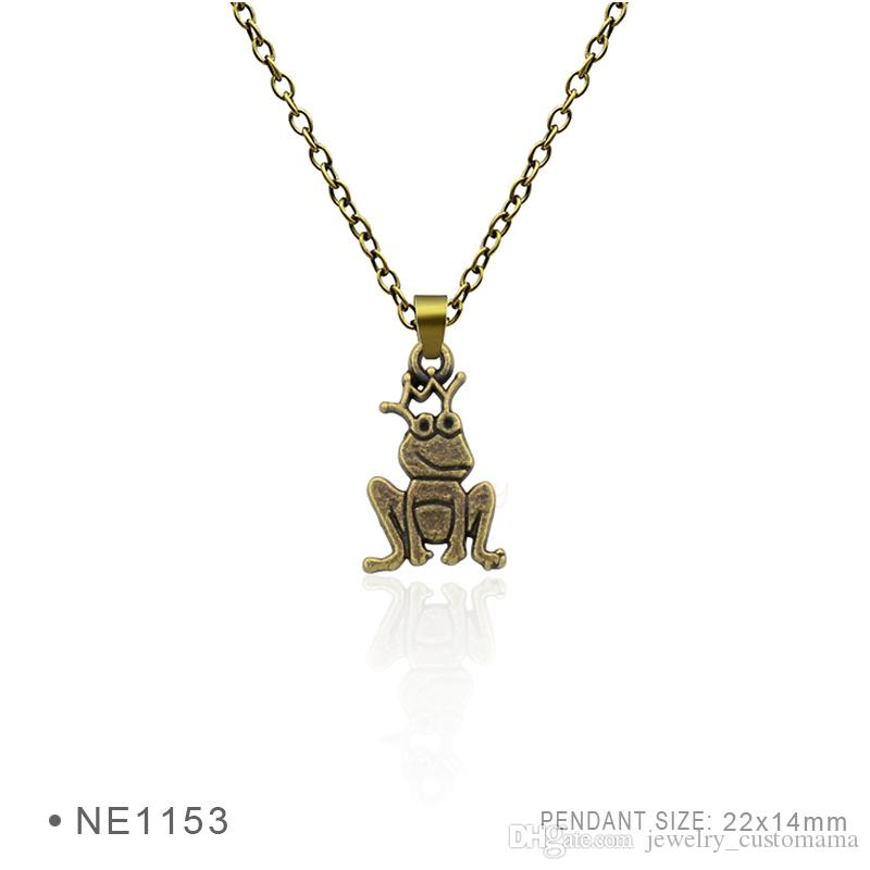 Antique silver plated frog prince charm pendants chain necklaces antique silver plated frog prince charm pendants chain necklaces for women men birthday best gifts platinum metal necklaces frog prince necklaces birthday mozeypictures Images