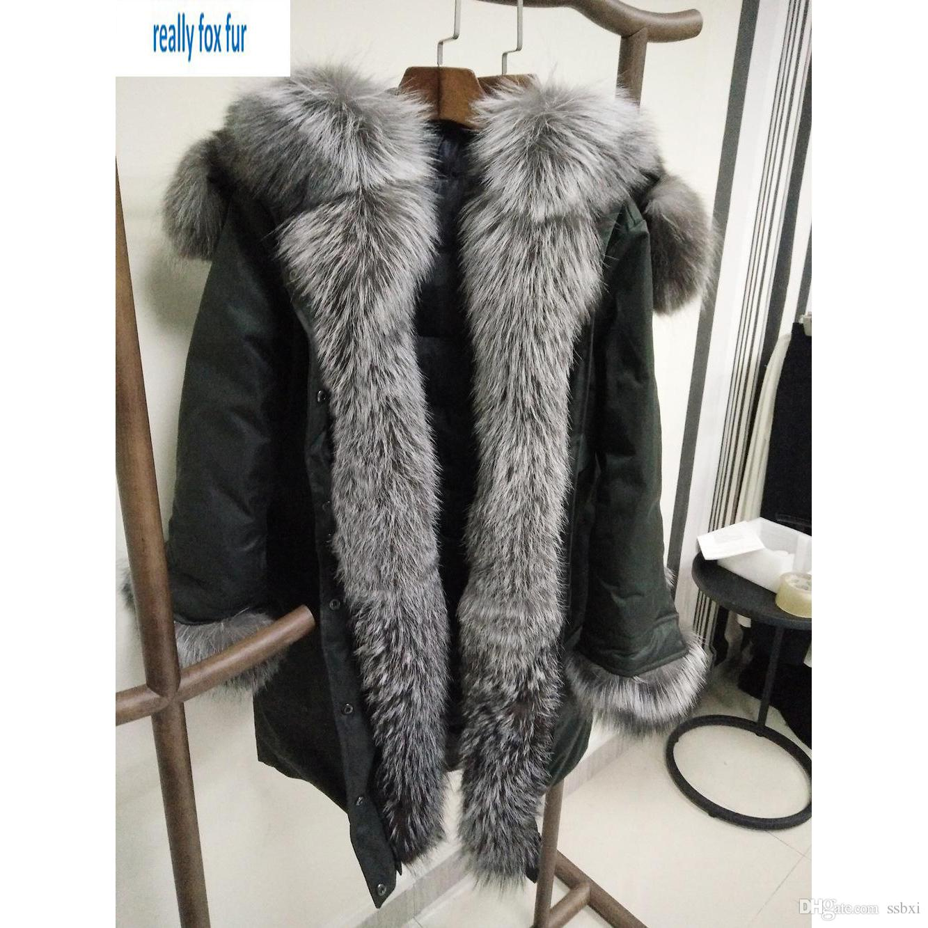 2017 Jacket Parkas For Women Winter Long Warm Anorak Coats With