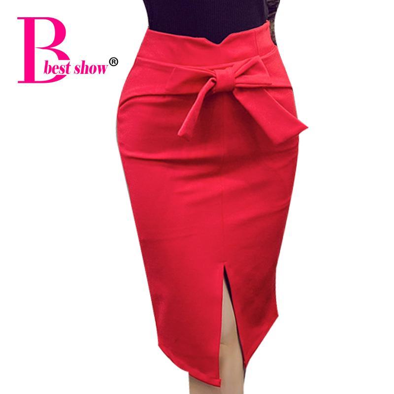 2017 Women Pencil Skirt Plus Size Autumn Winter New Fashion Knee ...