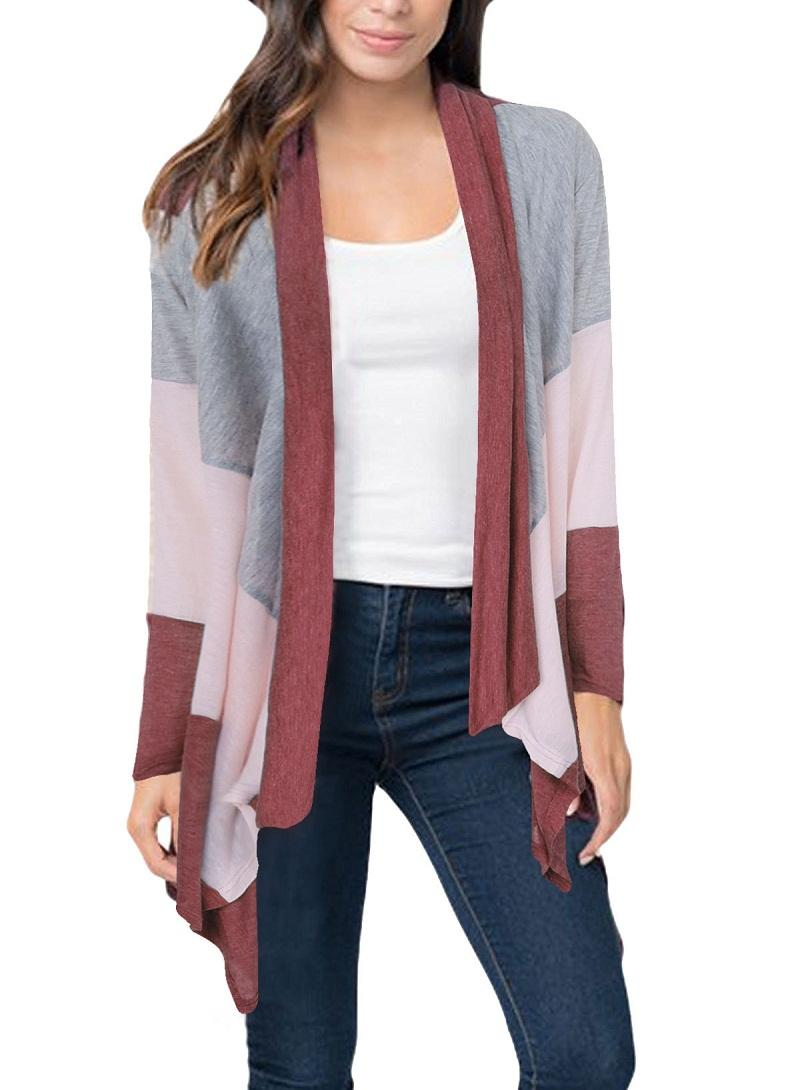 Women Cardigan Coat Wool Blends Lady out Coats Fashion Lapel Neck ...