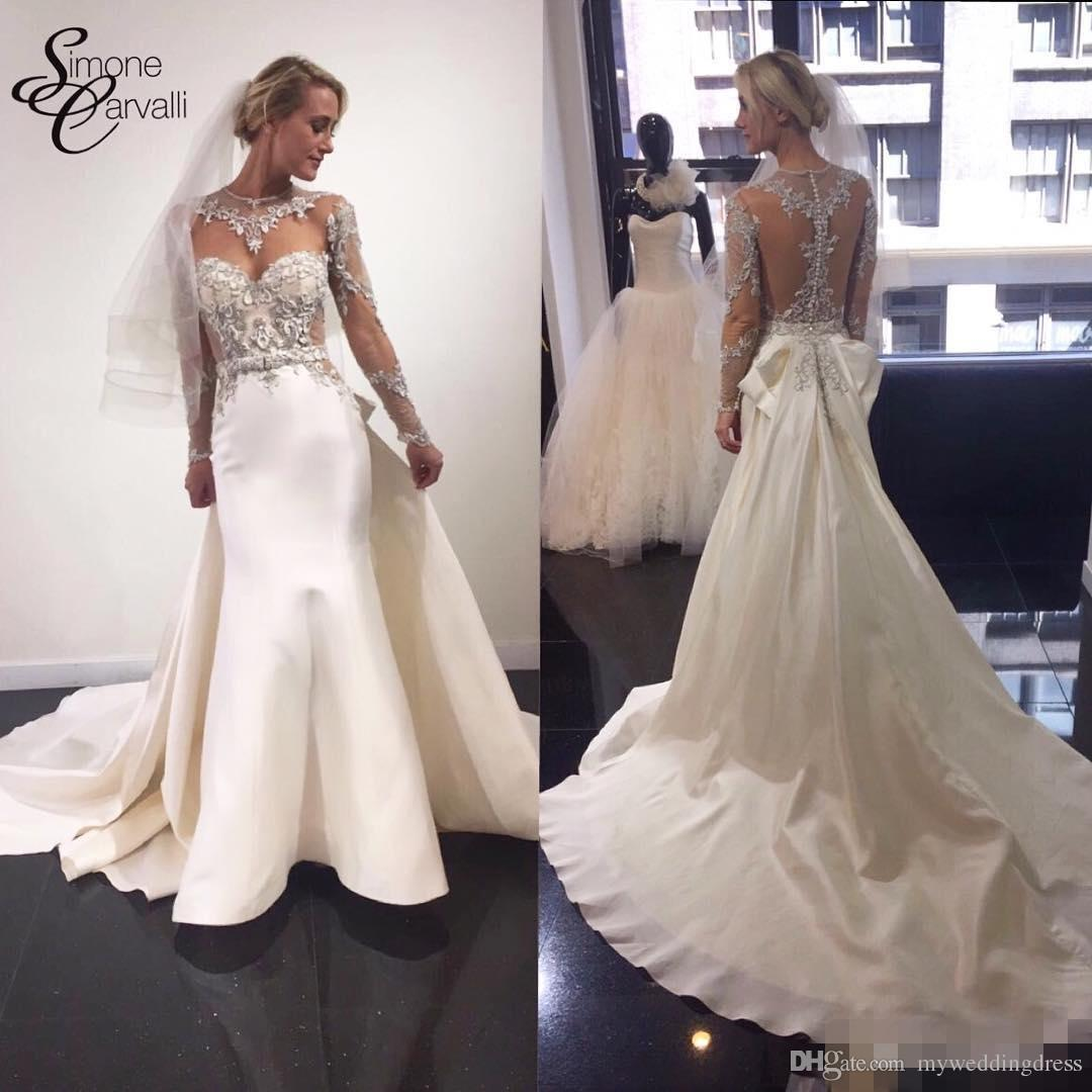 See through 2017 vintage lace sheath wedding dresses long for Www dhgate com wedding dresses