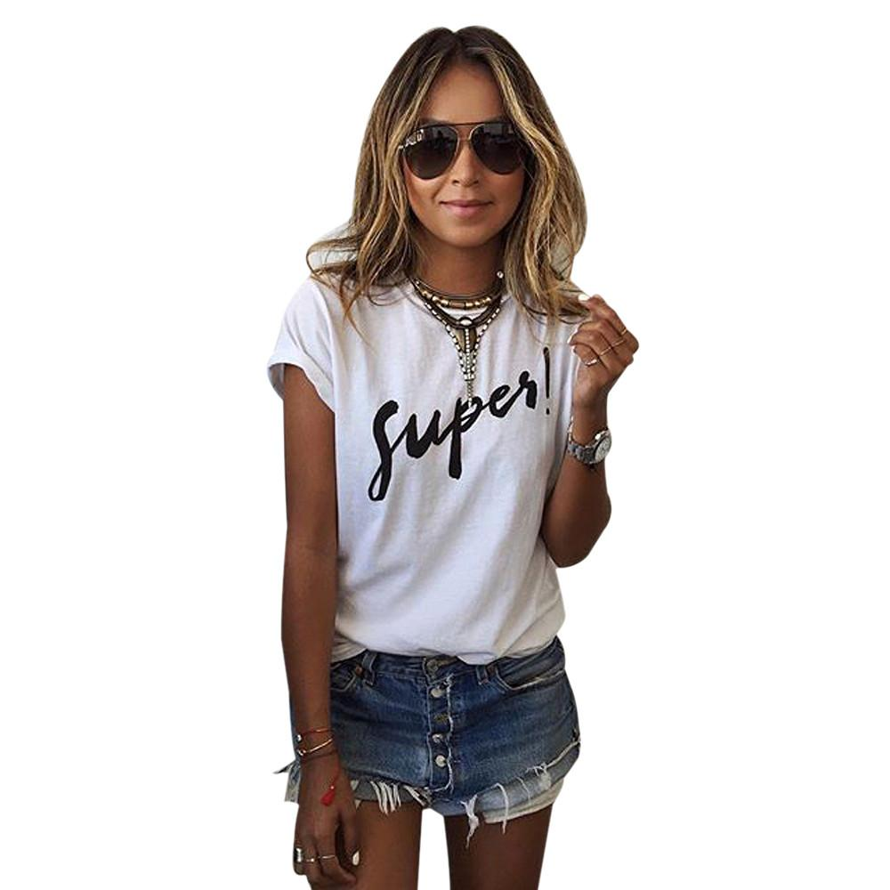 Wholesale Korean White T Shirt Women 2017 Summer Style ...