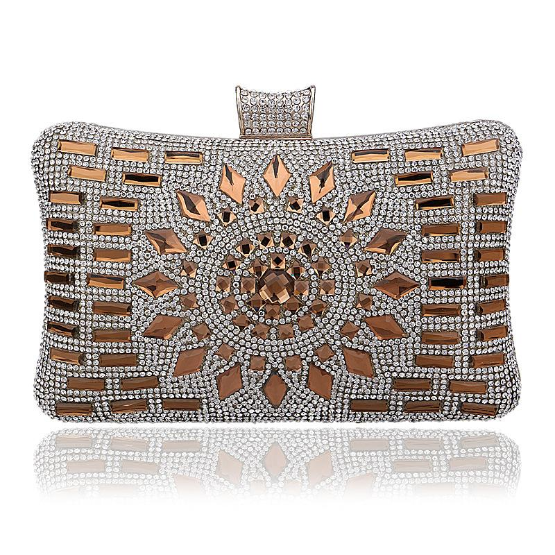 New Women Crystal Diamond Clutch Bags Glitter Silver Evening Bags ...