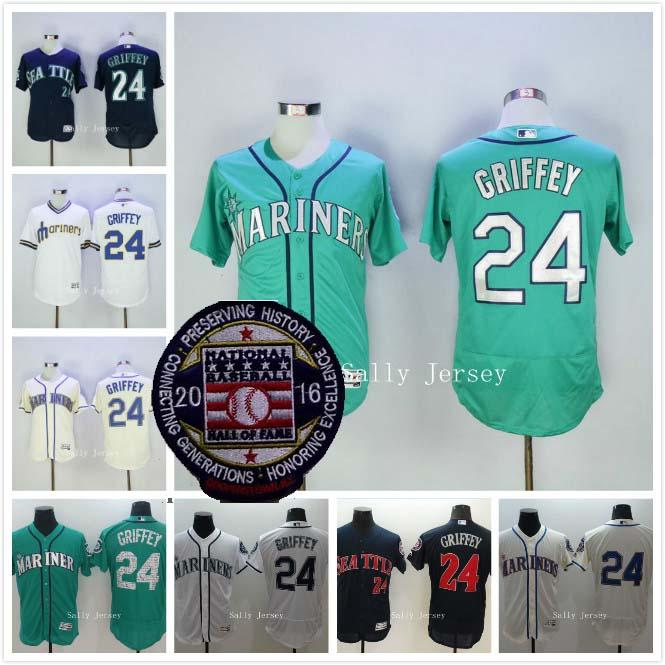 Ken Griffey Jr Jersey 2016 Hall of Fame Patch Seattle Mariners Flexbase Baseball