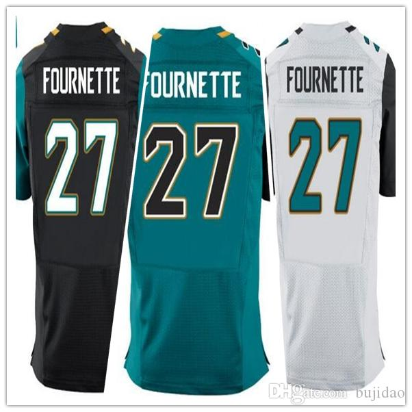 2017 Draft Picks No.4 New Mens N ° 27 Jacksonville Leonard Fournette Jersey Noir