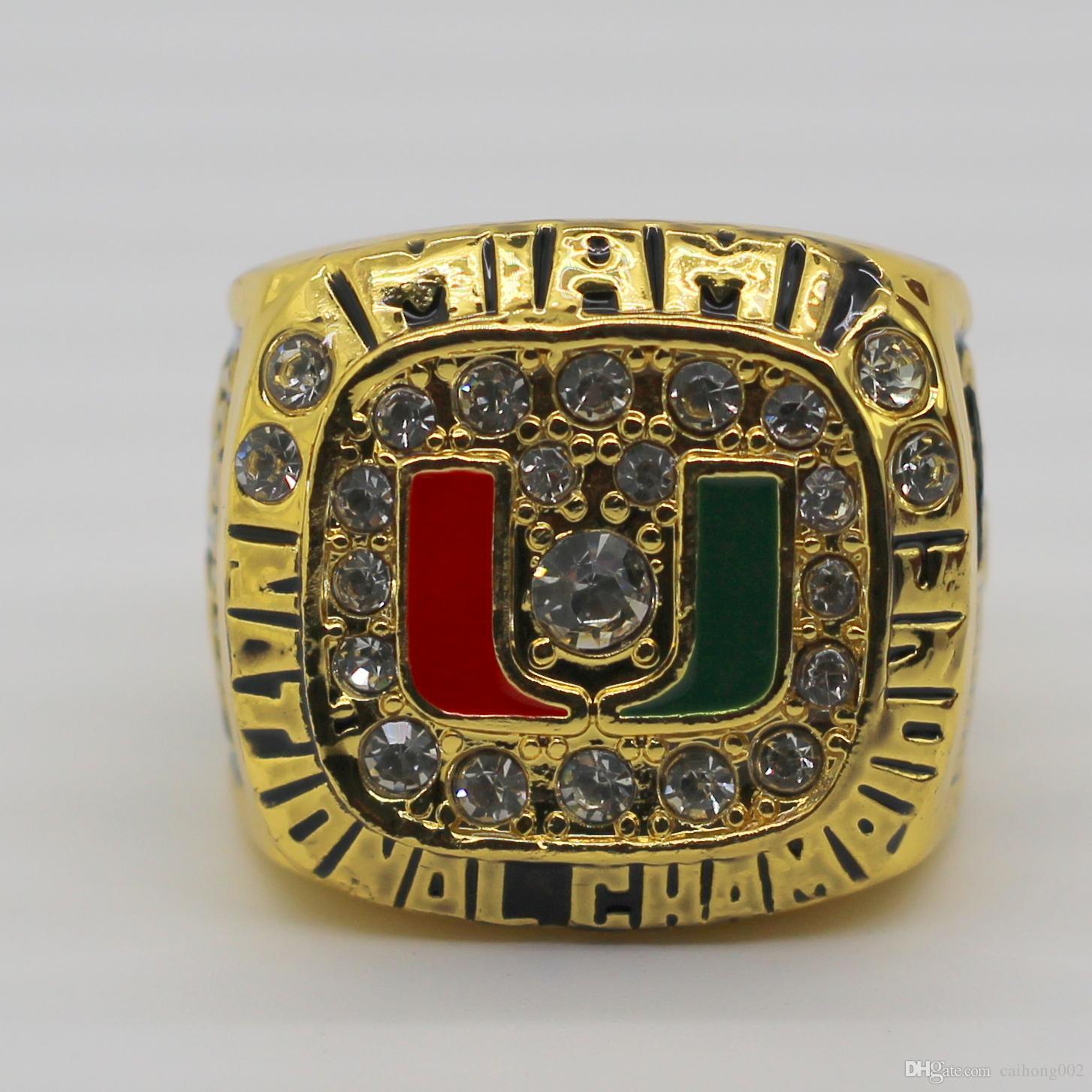 Miami Hurricanes National Championship Ring