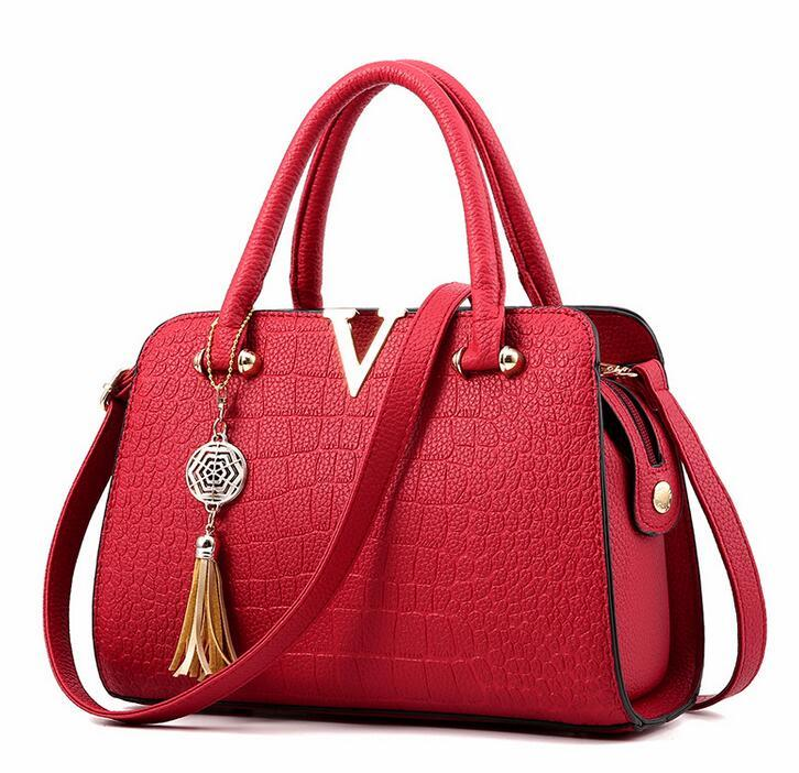 V Design 2017 Latest Fashion Pu Leather Bags Women Tote Bag ...
