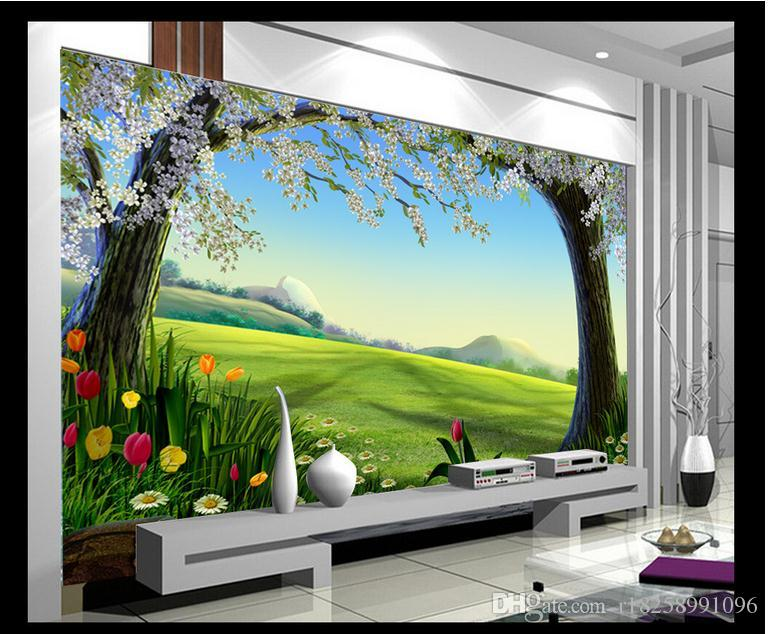 Wholesale custom 3d wallpaper for walls 3d photo wallpaper for Mural 3d simple