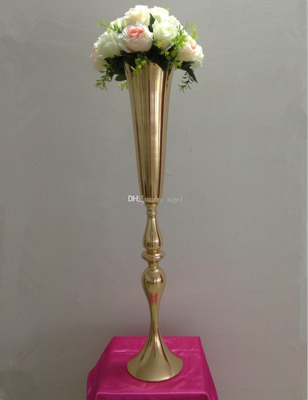 Cm height gold metal candle holder stand wedding