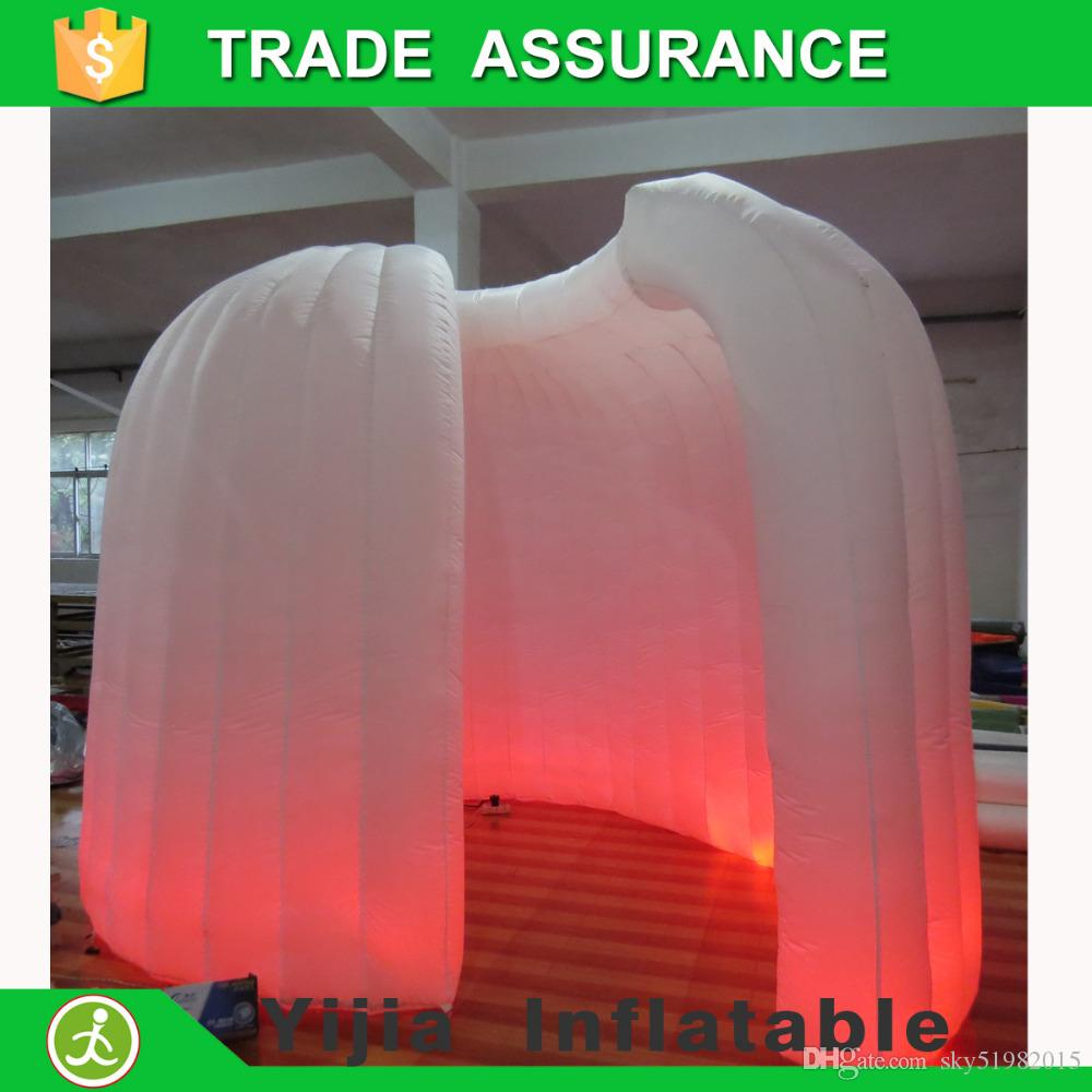Color booth online - New Type Photobooth White Color Inflatable Igloo Photo Booth With Led Strip At Bootm New Inflatable Photo Booth Online With 645 84 Piece On Sky51982015 S