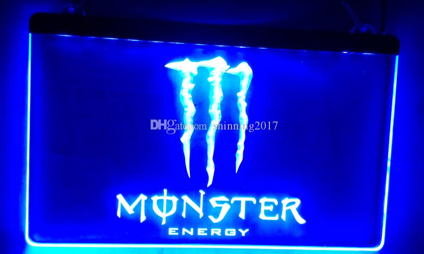 LS015-b Energy Drink LED Neon Light Sign Bar Decor Livraison gratuite Dropshippi