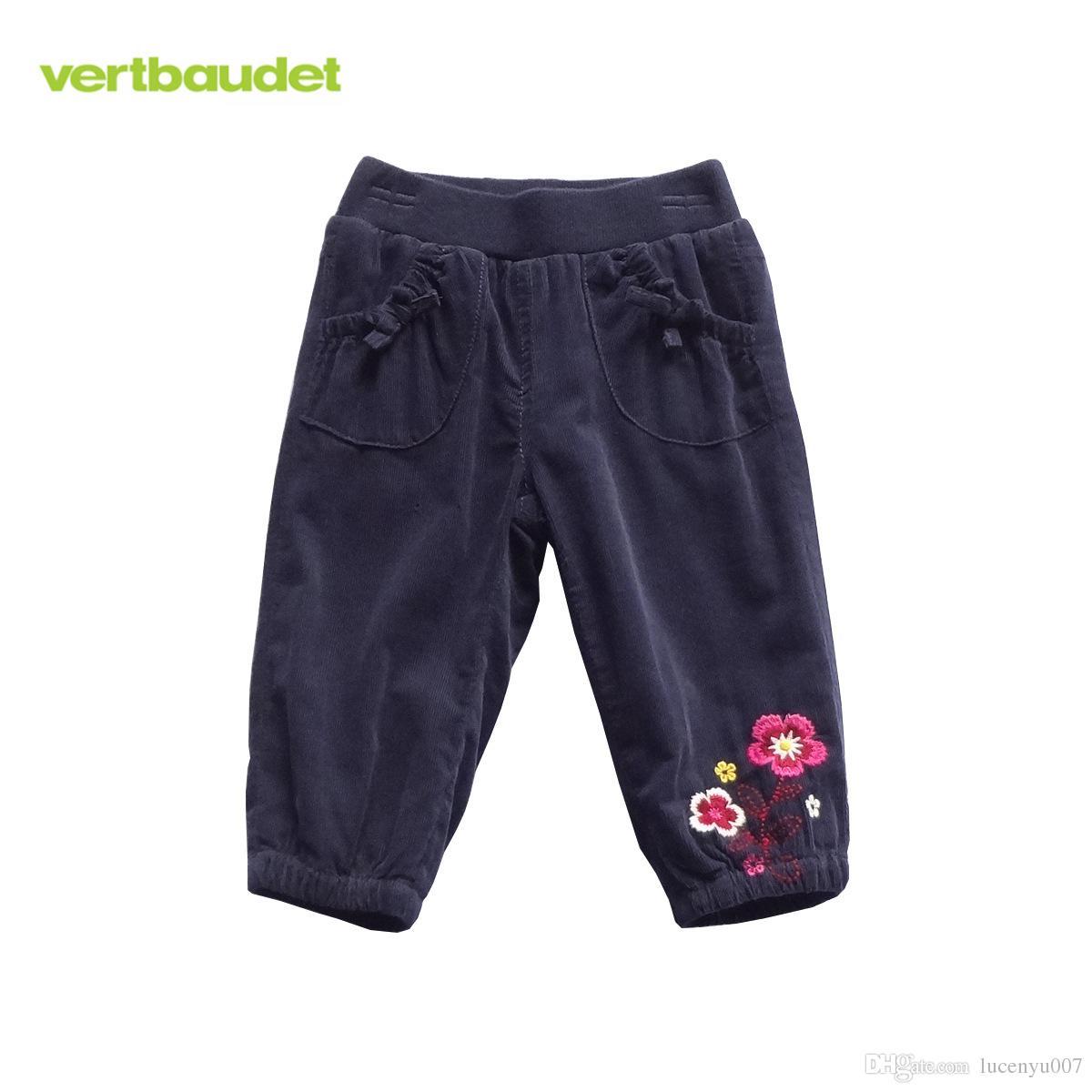 1-3Y Pantalon Fille Girls Corduroy Pants Baby's Jersey-Lined Pants ...