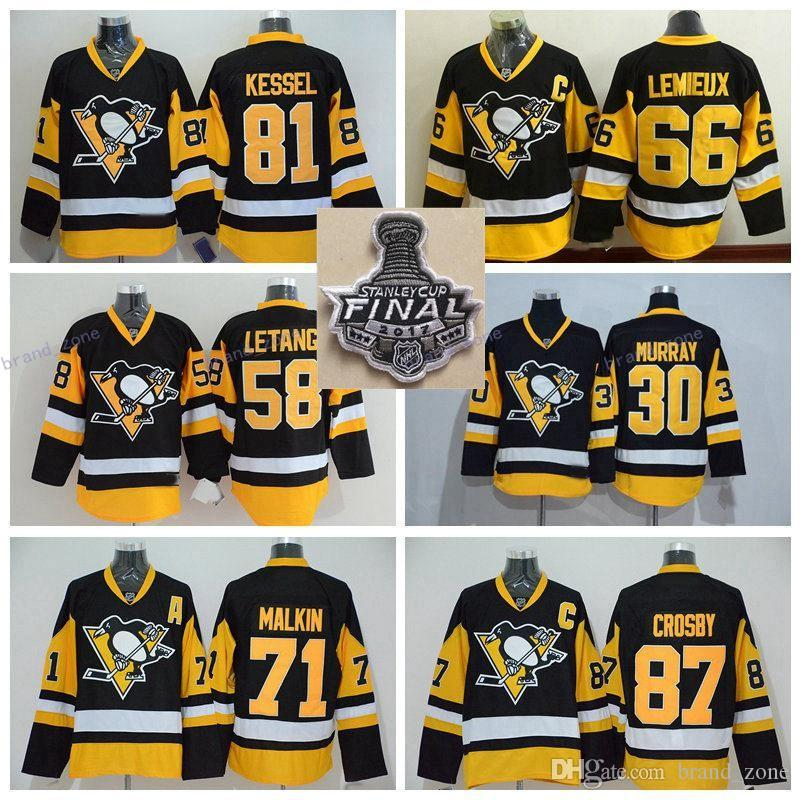 2017 Stanley Cup Final Champion Pittsburgh Penguins 81 Phil Kessel 87 Sidney Cro