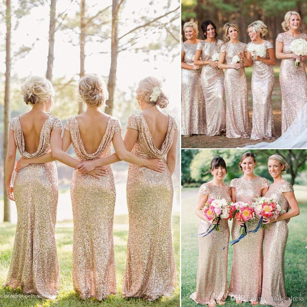 Bling bling gold sequins bridesmaid dresses long mermaid short bling bling gold sequins bridesmaid dresses long mermaid short sleeves backless country style prom party formal dresses for wedding sb009 gold bridesmaid ombrellifo Image collections