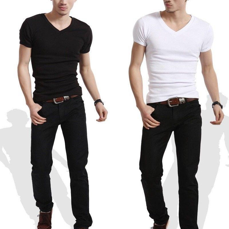Wholesale slim fit personalized v neck or crew neck t for Cheap slim fit shirts