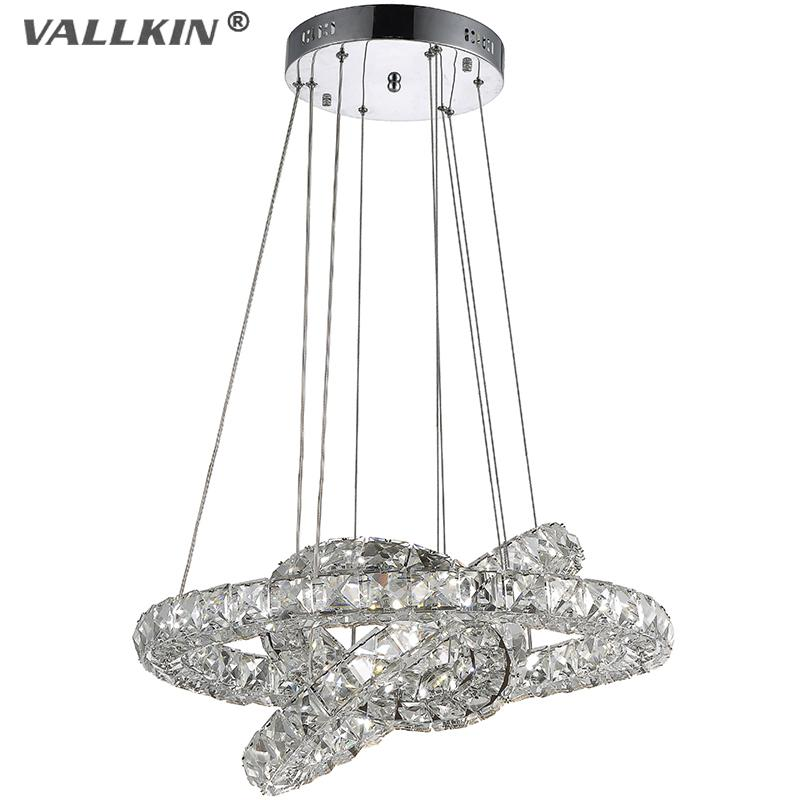 Vallkin diy led pendant lights k9 crystal chandeliers for Diy led chandelier