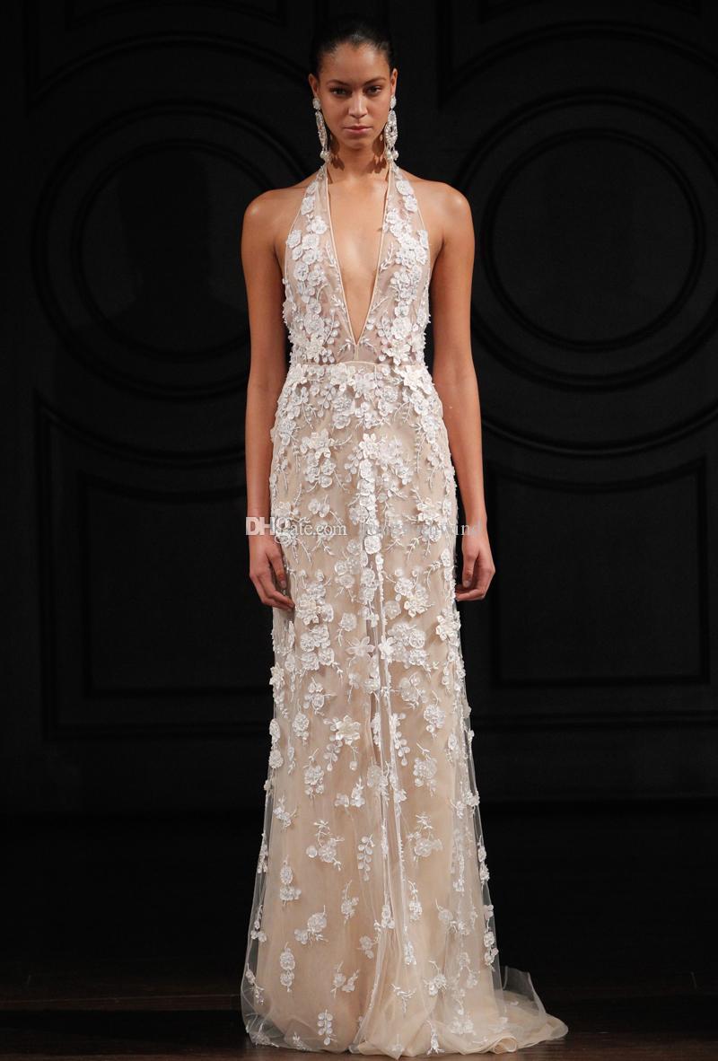2017 Summer Sexy Wedding Dresses 3d Floral Appliques ...