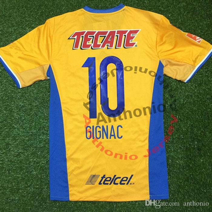 TIGRES 2017 HOME AWAY 3RD BLACK GIGNAC PERSONNALISÉ kit d'uniforme de football maillots de football thai qualité thailand kit de football de qualité