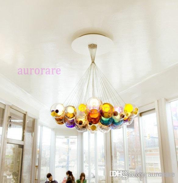 Diameter 15cm Color Glass Ball Pendant Lights Chandelier Of – Color Chandelier