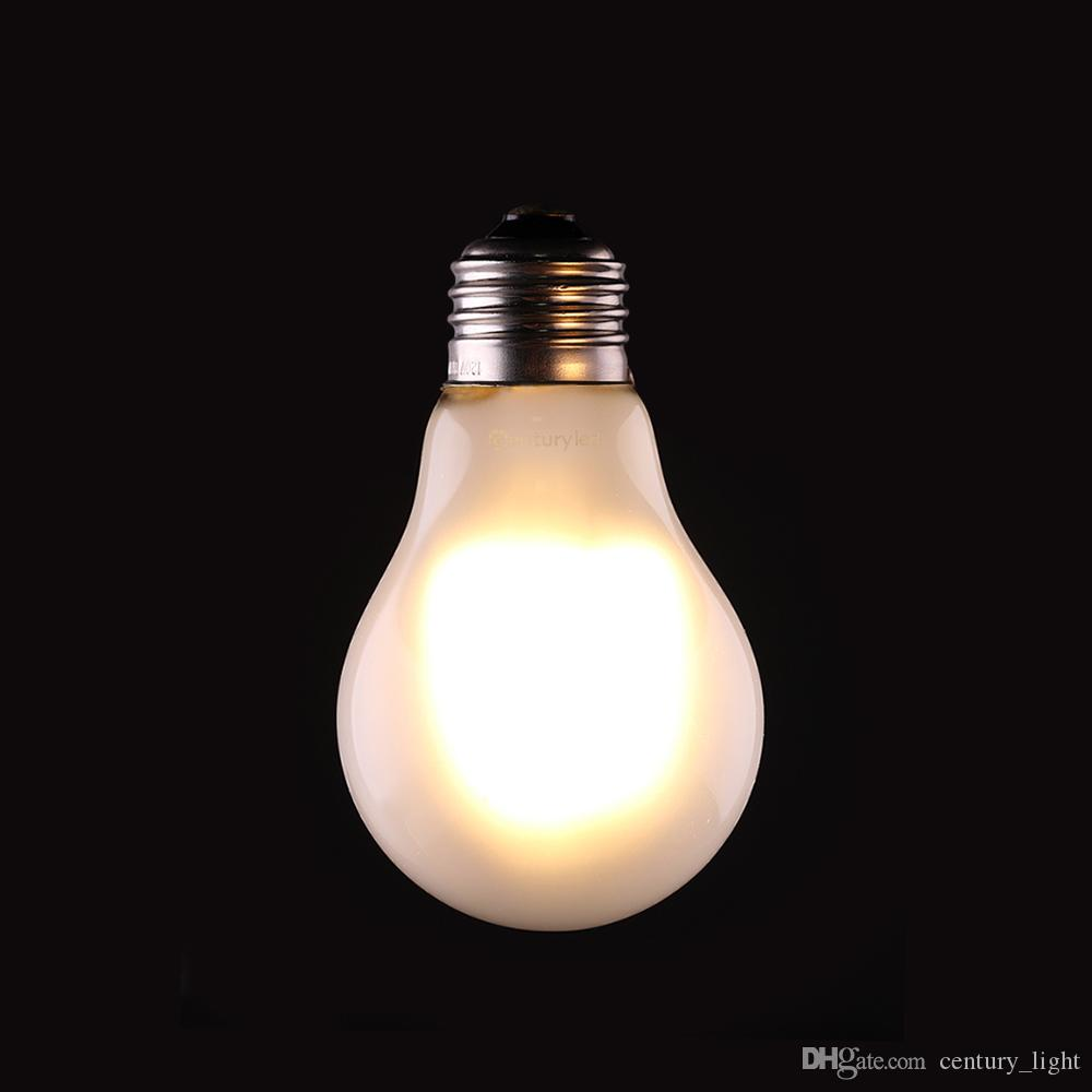 Vintage Led Filament Bulb 8w Edison A19 Frosted Style Warm White Globe