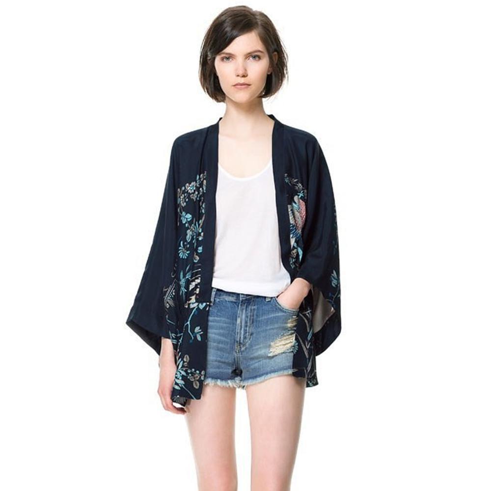 Wholesale- Women Europe And America Fashion Style Retro Print ...