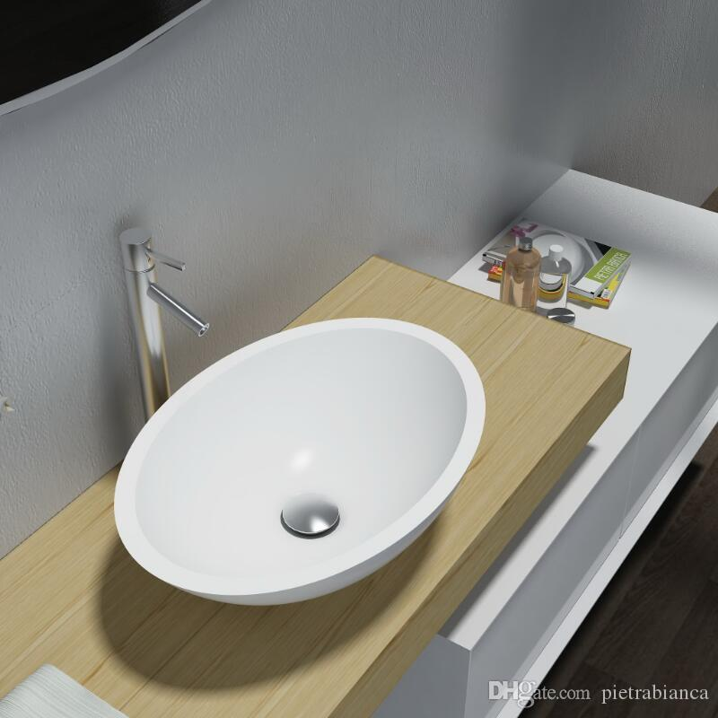 Bathroom Furniture Acrylic Resin Stone Solid Surface Stone Table Top  Counter Top Basin PB2106 Basin Solid Surface Basin Sink Online With  $437.5/Piece On ...