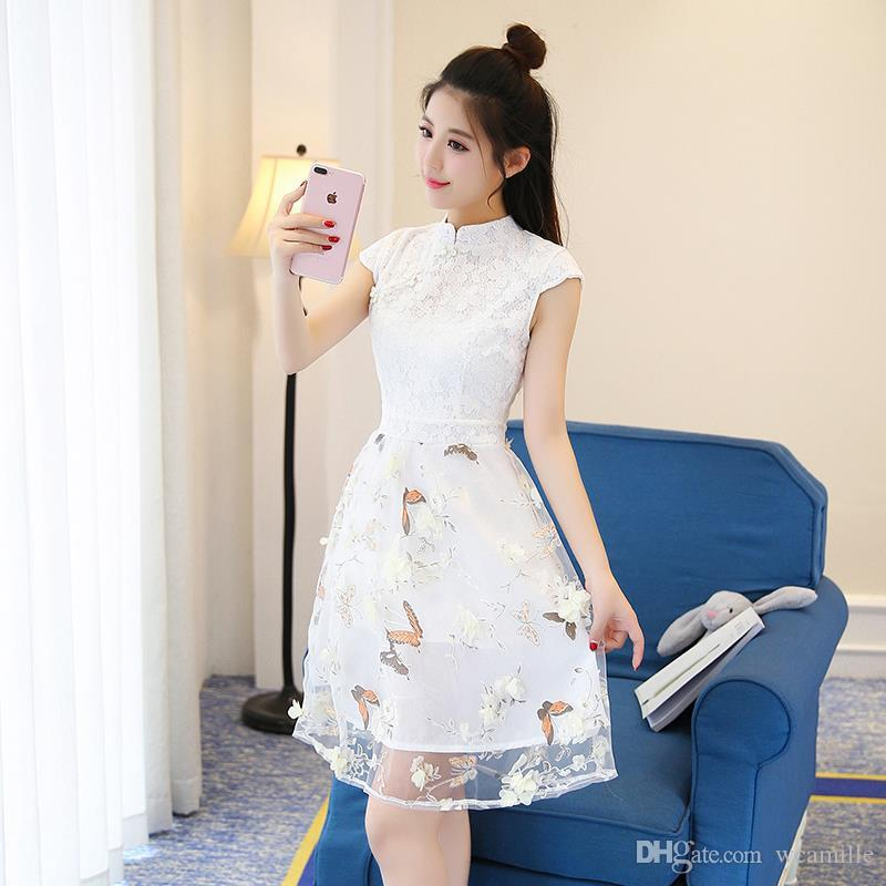 2017 summer fashion Korean style slim of empire skirt in ...
