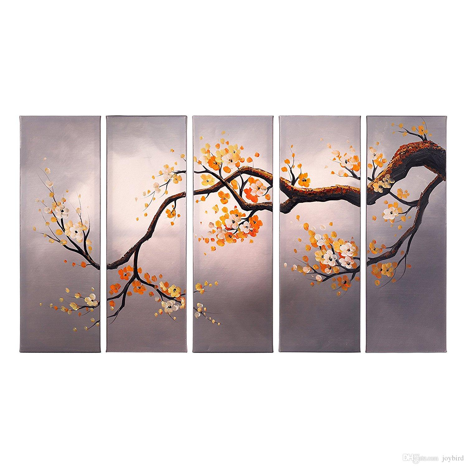 Modern artwork wall decor cherry blossom painting home decoration modern artwork wall decor cherry blossom painting home decoration flower art decor wood frame inside ready to hang flower wall decor canvas wall painting amipublicfo Image collections