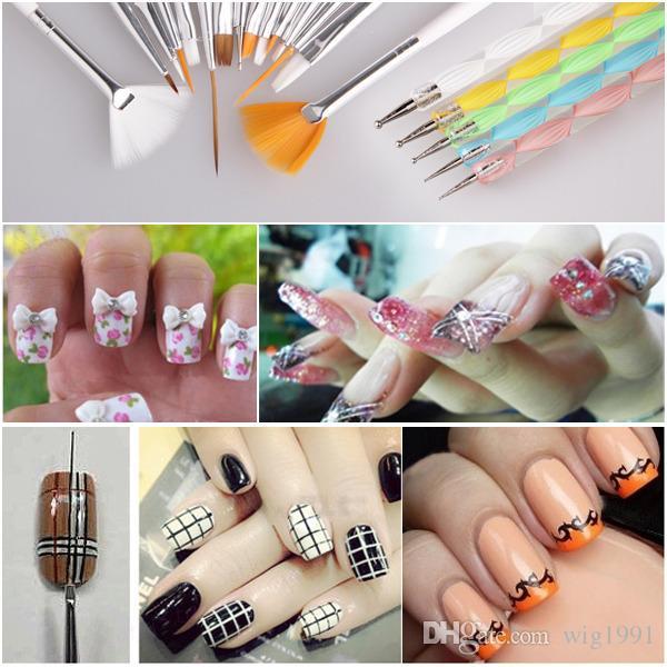 Nail Art Design Painting Tool Pen Polish Brush Set Kit