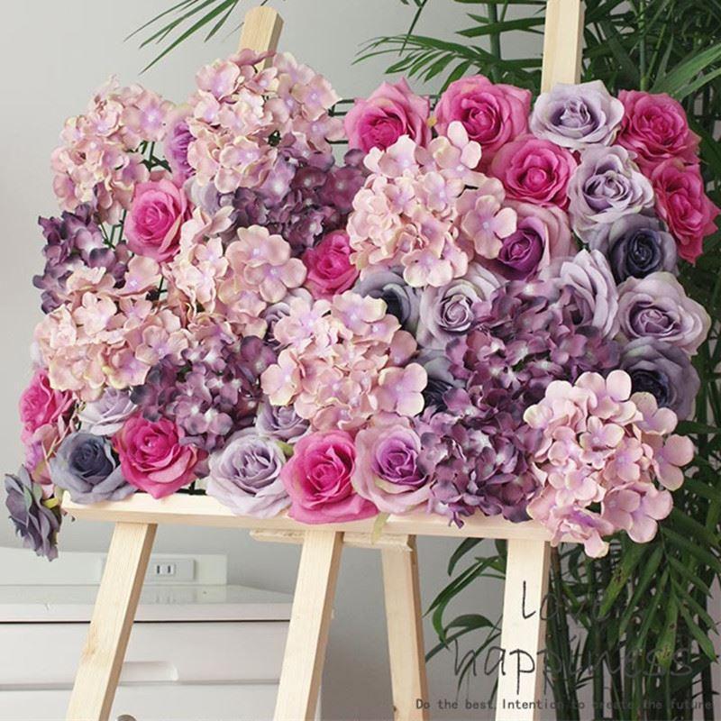 2017 artificial 11 layer silk rose head decoration flowers for Artificial flower decoration ideas for ganpati
