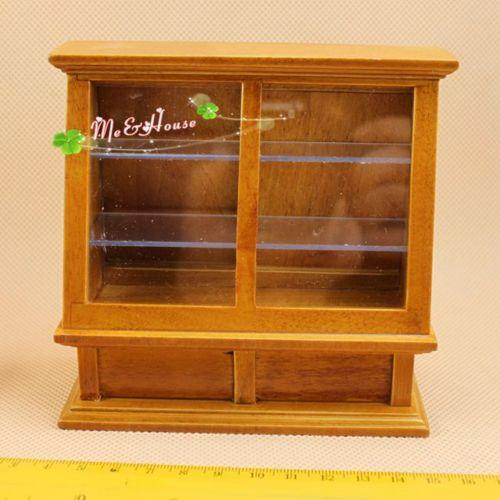 112 Dollhouse Miniature Bakery Display Case Wood furniture Squre Show case  /Doll house