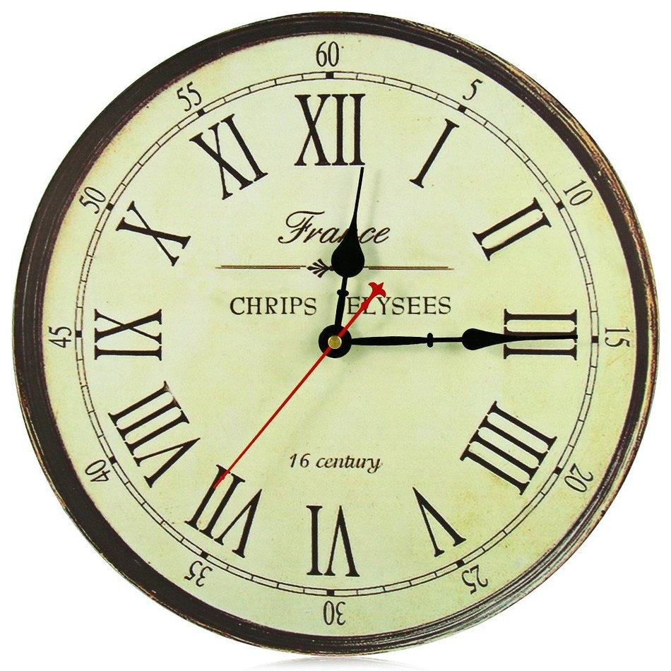 Wholesale best quality large wall clock silent antique wooden wholesale best quality large wall clock silent antique wooden round clock wall rustic vintage roman numerals design clock titanium numeric keypad clock amipublicfo Choice Image