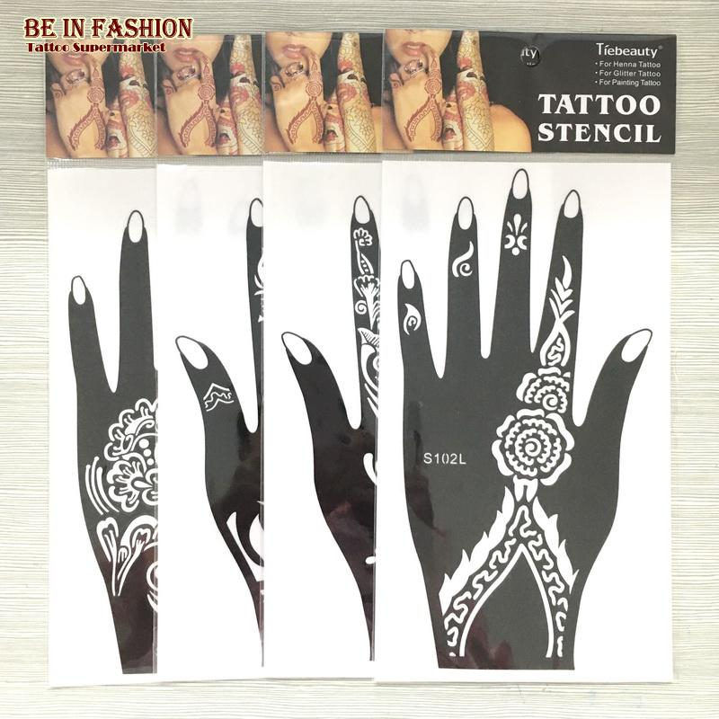 Wholesale henna tattoo stencil glitter template airbrush for Wholesale temporary tattoos